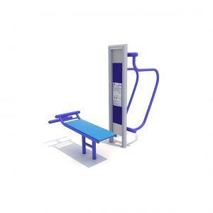Poręcze równoległe i ławeczka wyposażenie siłowni zewnętrznej