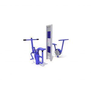 Rider i rower siłownia zewnętrzna