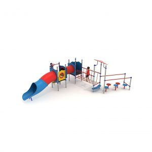 zestaw sprawnościowy na plac zabaw dla dzieci