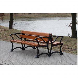 przestrzeń miejska ławka podwójna