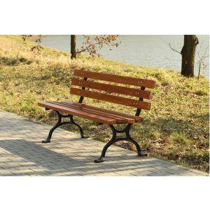 ławka żeliwna z drewna ławka do miasta