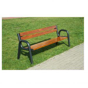 ławka żeliwna drewniana