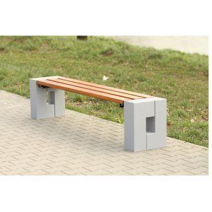 ławka na plac zabaw dla dzieci betonowa ławka