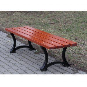 ławka miejska bez oparcia