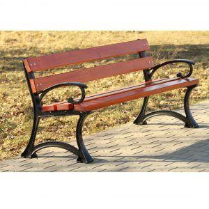 ławka parkowa drewniana