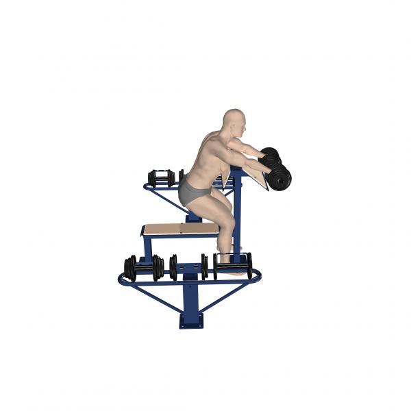 stacja wolnych ciężarów profesjonalna siłownia zewnętrzna active line wizualizacja