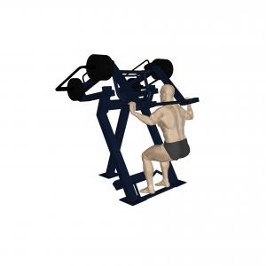 trenażer przysiady z obciążeniem z tyłu profesjonalna siłownia zewnętrzna active line