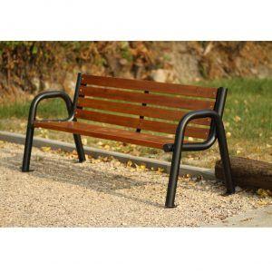 ławka stalowa na plac zabaw dla dzieci