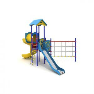 zestaw zabawowy ze zjeżdżalnią spiralną