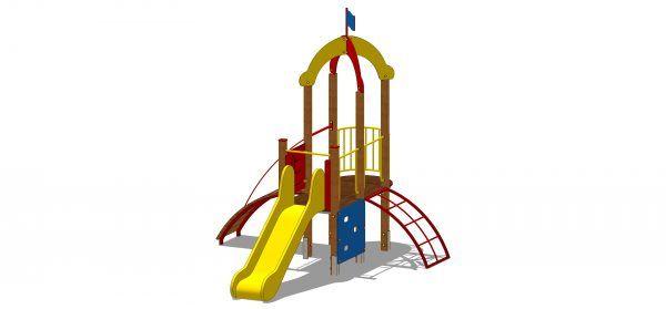 zestaw zabawowy z wieżą kwadratową