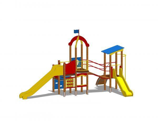 zestaw zabawowy z dwoma zjeżdżalniami