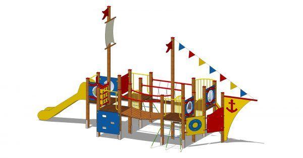 zestaw zabawowy statek z wieżą widokową
