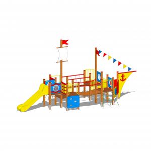 zestaw zabawowy statek na plac zabaw
