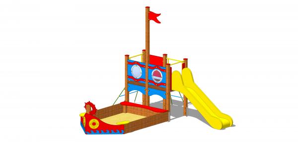 zestaw zabawowy statek z piaskownicą