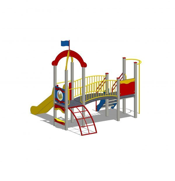 zestaw zabawowy z wieżą z tworzywa PE