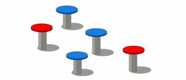 Urządzenie sprawnościowe na plac zabaw grzybki