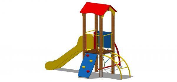 zestaw zabawowy z wieżą dwuspadową