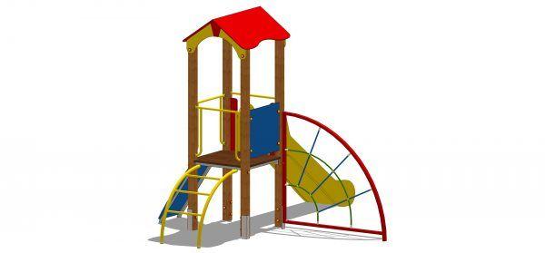 zestaw zabawowy z wejściem wspinaczkowym