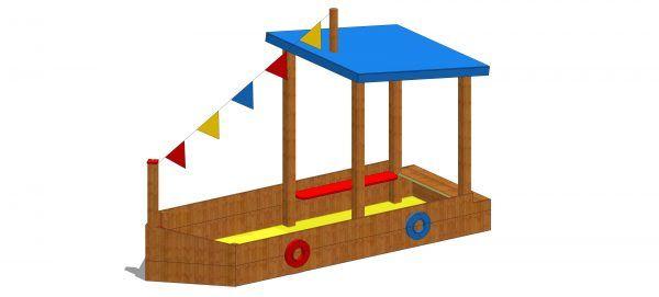 piaskownica łódź z siedziskami