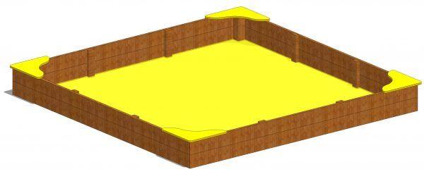 duża piaskownica kwadratowa