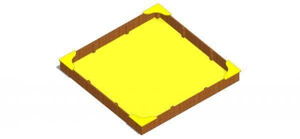 piaskownica kwadratowa z siedziskami hdpe