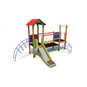 Zestaw zabawowy z drabinkami i mostem
