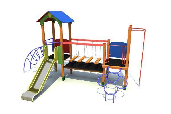 plac zabaw dla dzieci z mostem