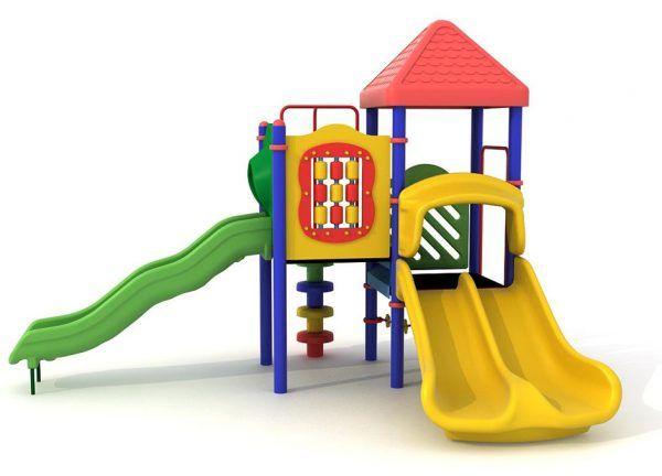zestaw zabawowy z daszkami i wejściem po grzybkach