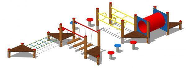 zestaw zabawowy labirynt z drewna