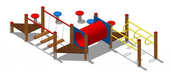 zestaw zabawowy z przejściem tubowym
