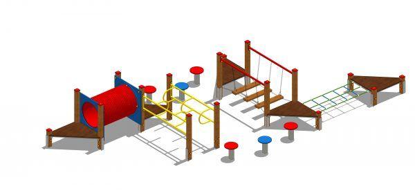 zestaw zabawowy labirynt z przejściem tubowym