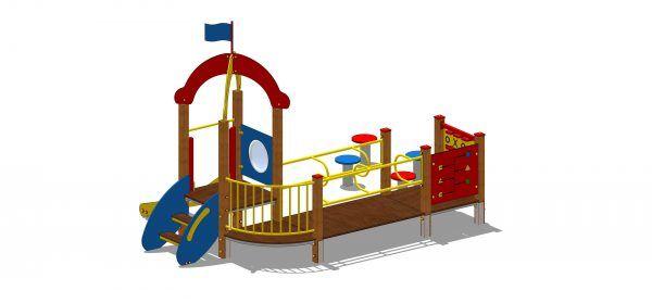 zestaw na plac zabaw z wieżą