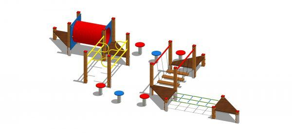 zestaw zabawowy labirynt z mostkiem ruchomym