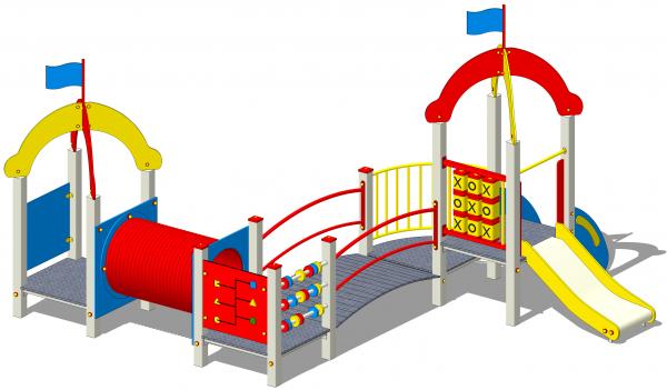 zestaw zabawowy z elementami edukacyjnymi