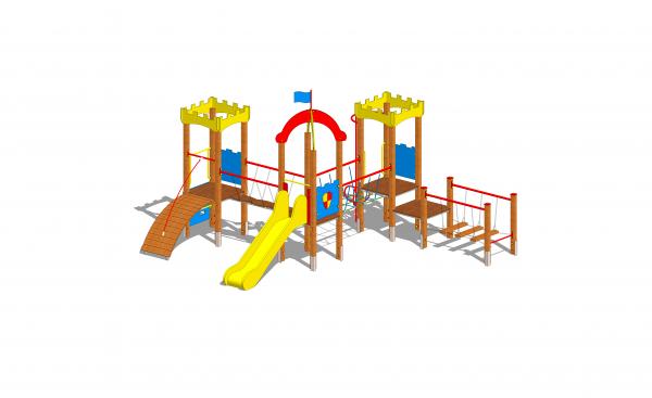 zestaw zabawowy zamek dla dzieci na plac zabaw