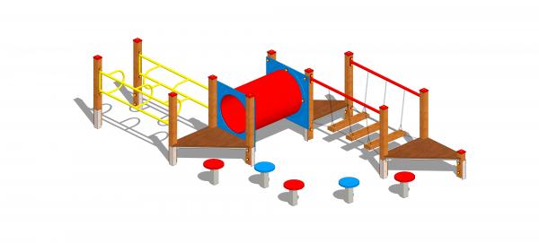 zestaw zręcznościowy na plac zabaw dla najmłodszych