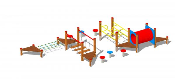 zestaw zabawowy labirynt z przejściami zręcznościowymi