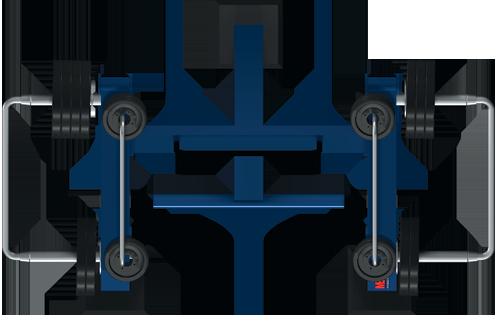 Trenażer mięśni dwugłowych uda w pozycji stojącej (nr kat. 7.43)
