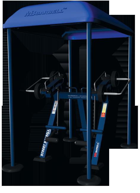Trenażer mięśni czworogłowych uda w pozycji stojącej (nr kat. 7.44)