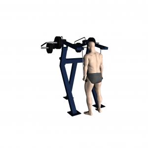 Trenażer mięśni ramion - tricepsów oraz brzucha (skłony) (nr kat. 7.46)