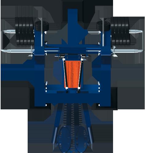 Trenażer mięśni pośladkowych oraz wewnętrznych części ud (nr kat. 7.49)