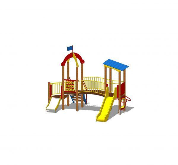zestaw zabawowy na plac zabaw dwie wieże