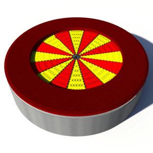 Trampolina ziemna okrągła czerwona